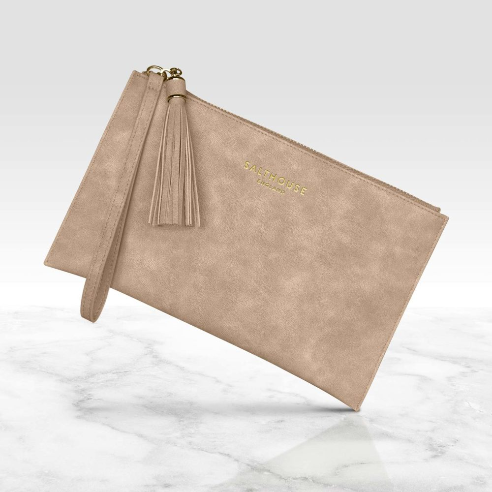 Naughty Nude Clutch bag by Salthouse England